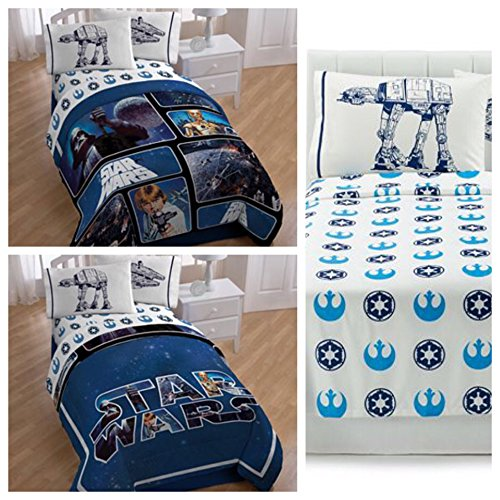 Star Wars Saga Classic Reversible Twin Bedding Set – Twin/Full Comforter, Sheet Set & Pillow Case