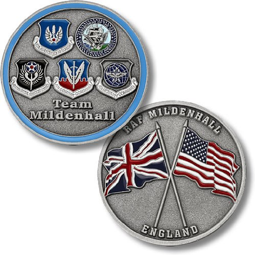 RAF Mildenhall, England - Five Seals Challenge Coin