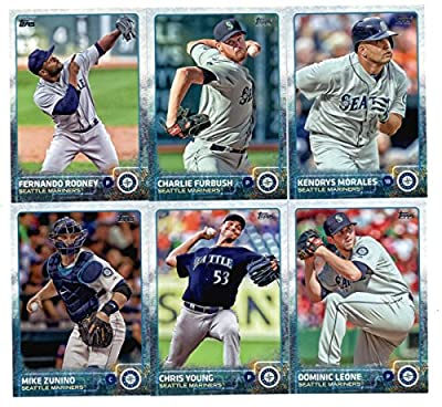 2015 Topps Baseball Cards Seattle Mariners Team Set (Series 1- 10 Cards) Including Kendrys Morales, Dominic Leone, Fernando Rodney, Charlie Furbush, Chris Young, Mike Zunino, Dustin Ackley, Felix Hernandez, Kyle Seager, Austin Jackson