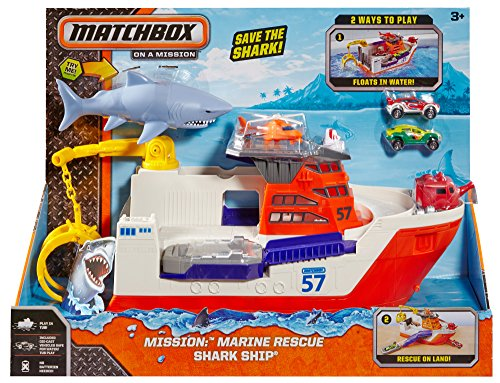 Shark Boat Toy : Matchbox mission marine rescue shark ship discontinued