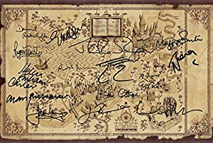 Harry Potter Wizarding World Signed PP x 15 Cast J.K Rowling Daniel Radcliffe Emma Watson Rupert Grint Helena Bonham Carter Alan Rickman Poster Photo 12x8""