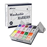 Madisi Washable Markers, Broad Line Markers, Assorted Colors, Classroom Bulk Pack, 240 Count (Color: 10 Colors)