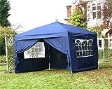 3m x 3m Blue Pop Up Gazebo/Marquee Outdoor Garden Wedding Party Tent