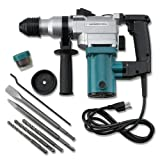 Electric Rotary Hammer Drill Kit,Electric Rotary Hammer Drill SDS Concrete Chisel Kit with Bits Durable Accessories(Voltage:110 Vlt,Frequency:60 Hz,Power:650 Watts,Impact Frequency:3150 BPM)