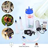 2L Portable Milking Machine,Acogedor Electric Milker Machine with Pulse Controller for Cow Sheep 100V-250V (Tamaño: US)