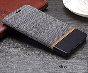 iKraft Book Style Dual Pattern Flip Cover for Letv Le Max - Grey & Blue