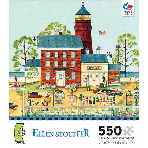 Ellen Stouffer: The Lighthouse - 550 Piece Jigsaw Puzzle by Ceaco
