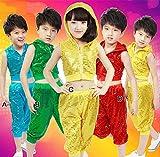 キッズ ダンス 子供 ステージ ジュニア スパンコール イベント HIPHOP E/150cm 【1点】