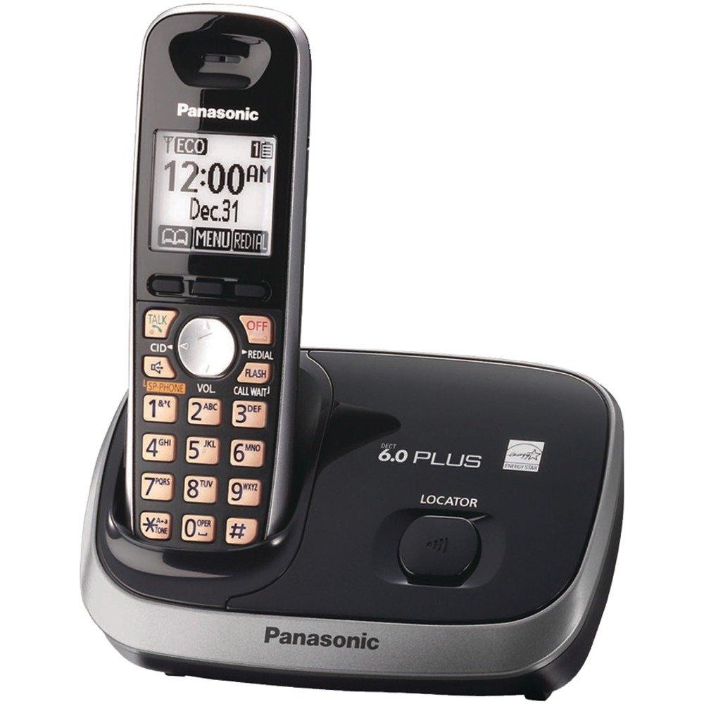 panasonic cordless telephone black expandable digital phone call home 037988482733 ebay. Black Bedroom Furniture Sets. Home Design Ideas