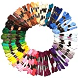 100 x 8m Assorted Cotton Embroidery Threads / Skeins by Kurtzy TM