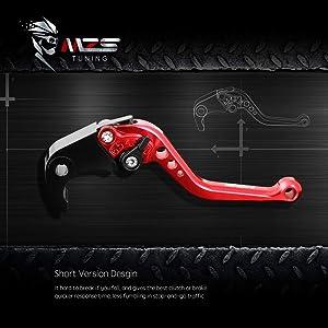 MZS Short Levers Brake Clutch CNC compatible Yamaha ATV Banshee 350 YFZ350 02-08// Blaster 200 YFS200 04-06// Raptor 660 YFM660 01-04// Warrior 350 YFM350X 02-04// Wolverine 350 YFM350FX 02-05 Gold