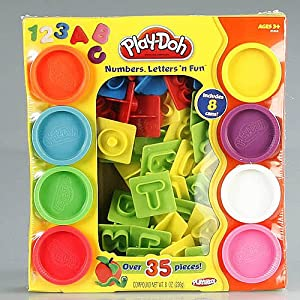 amazoncom play doh numbers letters n fun art toy toys With play doh numbers letters n fun 35 pieces