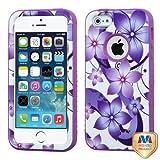 MYBAT Purple Hibiscus Flower Romance/Electric Purple VERGE Hybrid Protector Cover for APPLE iPhone 5 APPLE iPhone 5s