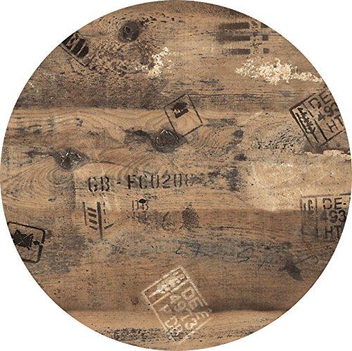 Tischplatte-Werzalit-Dekor-Ex-Works-60-cm-rund-wetterfest-Ersatztischplatte-Bistrotisch-Stehtisch-Tisch-Gastronomie