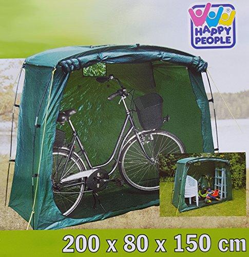 1-Stck-Universal-und-Fahrradgarage-Grn-aus-PE-Material-Grsse-ca-200x80x150-cm-79260-Mini-Gartenhaus-Abstellplatz