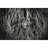 Artzloom Head Of Sandstone Buddha In The Tree Roots At Wat Mahathat, Ayutthaya, Thailand Canvas Art Print Without... - B011HZH482