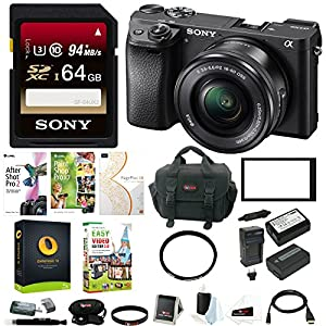 Sony a6300 Mirrorles Digital Camera w/ 16-50mm f/3.5-5.6 Lens & 64GB SD Card Bundle