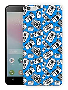 """Humor Gang Camera Eyes - Blue Printed Designer Mobile Back Cover For """"Huawei Honor 4X"""" (3D, Matte, Premium Quality Snap On Case)"""