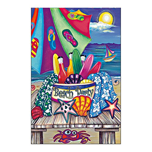 The Sea Garden Flag Have A Wonderful Beach Party In Summer Night Double Sided Outdoor Flags Of 100% Polyester And Waterproof Fade And Mildew Resistant-28 X 40 Inch Banner