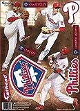 MLB Philadelphia Phillies 2014 Three Player Fathead Teammate Wall Decal, 8 x 16-Inch, Red