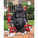 Design Toscano NE110088 Giant Male Silverback Gorilla Statue, Multicolored