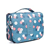 Axgo Multifunctional Cosmetic Portable Travel Folding Make up Toiletry Bags with Hook, Blue