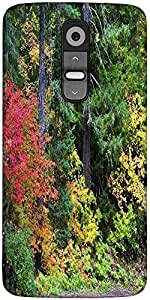 Snoogg Autumn Forest Background Designer Protective Back Case Cover For LG G2