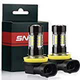 SNGL Super Bright High Power H11 LED Bulbs for Fog Lights - Plug-and-Play - 3000K Gold Yellow (Pack of 2) (Color: Gold Yellow, Tamaño: H11)