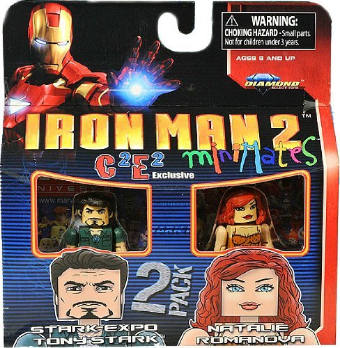 Picture of Diamond Select Marvel MiniMates Exclusive Mini Figure 2Pack Iron Man 2 Stark Expo Tony Stark Natalie Romanova (B003F31940) (Iron Man Action Figures)