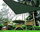 BIG Oversized Triangle Sun Shade Tarp uv ray Blocker Sail 16.5' Green Color