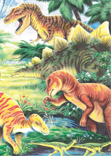 Royal & Langnickel Mini Colour Pencil By Number Kit: 5x7 Dinosaur Fun