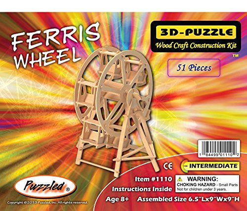 Puzzled Ferris Wheel 3d Natural Wood Puzzle