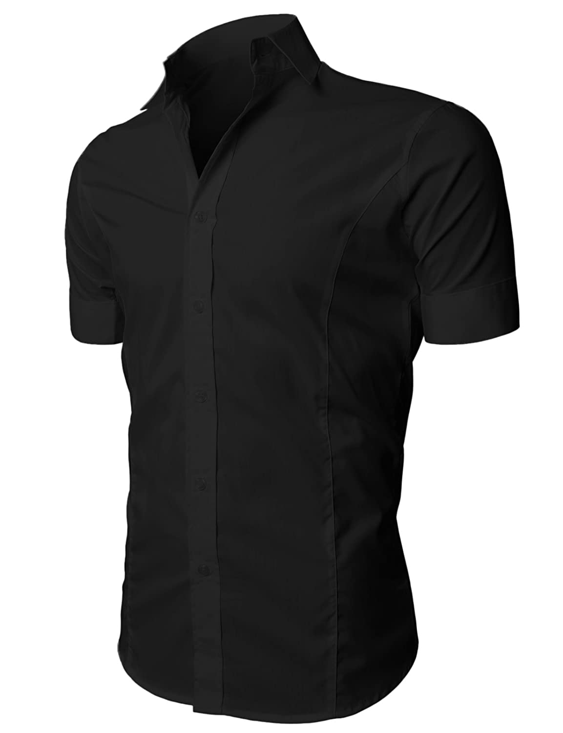H2H Men's Wrinkle Free Slim Fit Dress Shirts at Amazon Men�s Clothing store