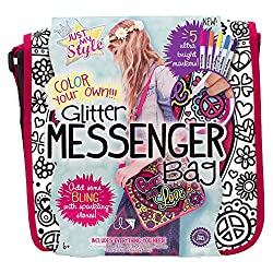 Just My Style Glitter Messenger Bag Art and Craft,  Multi Color