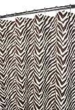 Park B. Smith Zebra Zebra Shower Curtain, Natural/Coffee Bean