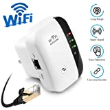 WiFi Repeater, Range Extender, 2.4G Network with Integrated Antennas LAN Port, 300Mbps Wireless Router Signal Booster Amplifier Supports Repeater/AP