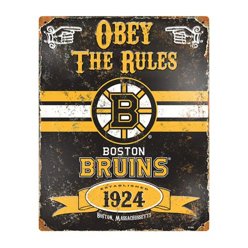 Nhl Boston Bruins Party Animal Vintage Metal Sign front-703461