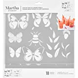 Martha Stewart 17633 Layering Butterfly Stencil, 2 Piece (Color: Not Applicable)