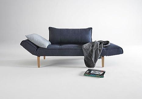 INNOVATION ZEAL sofá-cama azul, puntada cm, color blanco