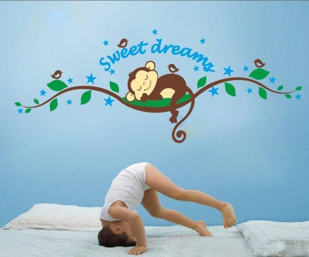'Sweet Dreams Sleeping Monkey' Wall Sticker