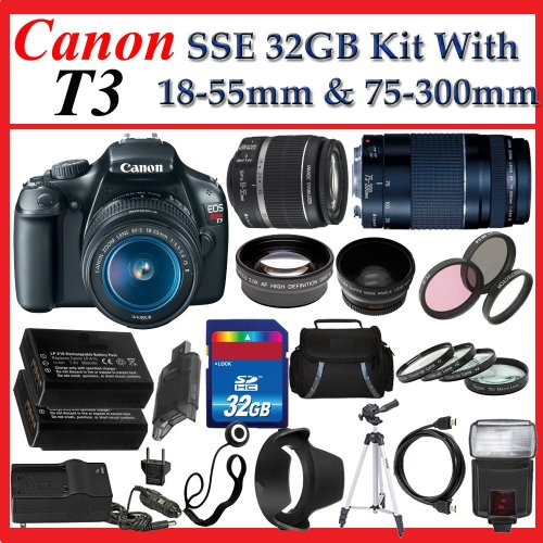 Canon EOS Rebel T3 1100d SLR Digital Camera with Canon EF-S 18-55mm f/3.5-5.6 IS II Autofocus Lens