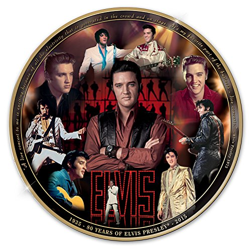 Elvis Presley 80th Anniversary Masterpiece Commemorative Collector Plate by The Bradford Exchange