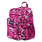 JanSport Big Student Backpack - Fluorescent Pink Streaky Camo / 17.5H x 13W x 10D