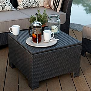 Coral Coast Fiji Isle Storage Table, Resin Wicker, 24L x 24W x 17H in. from Vendor Development Group Inc