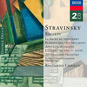 Stravinsky: Petrushka, Petrouchka; Le Sacre du printemps, The Rite of Spring; L'Oiseau de feu, The Firebird - suite (1945); Jeu de cartes; Apollon musagete