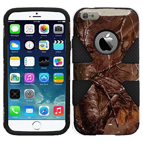 HR Wireless Dynamic Slim Hybrid Cover Case for iPhone 6 - Retail Packaging - Camouflage Black