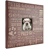 MCS MBI 13.5x12.5 Inch Good Dog Pet Theme Scrapbook Album with 12x12 Inch Pages (860125) (Color: Clear)