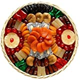 Broadway Basketeers Dried Fruit Round Basket (Large) Gift Basket ~ Broadway Basketeers