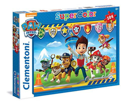 Clementoni Super color - Patrulla canina Puzzle, 104 piezas