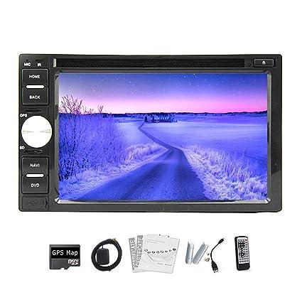 Haute Qualité. 100% Neuf de voiture universel Radio double 2DIN lecteur DVD de voiture Navigation GPS en voiture Dash PC stéréo Tête Unité Vidéo sans + Carte + sans carte